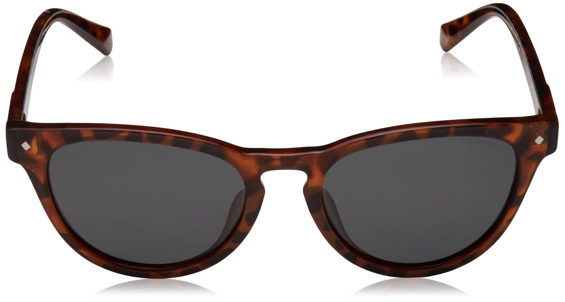 Polaroid Sunglasses Girls' Pld8026fs Polarized Oval Sunglasses, DKHAVANA, 49 mm by Polaroid Sunglasses (Image #2)