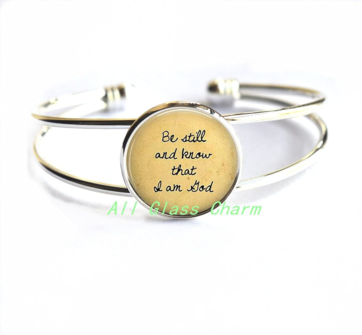 Scripture Bracelet Religious Jewelry Faith Charms,AS080 Faith Jewelry Religious Bracelet Bracelets Charming Bracelet,Be still and know that I am God
