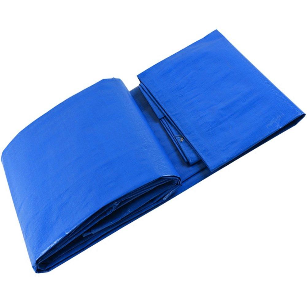 GLJ Blaue Regendichte Plane Kunststoff Tuch Plane Wasserdicht Planentuch Auto LKW Plane Markise Tuch Plane (Farbe   Blau+Weiß, größe   3x4m)