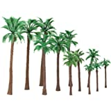 12pcs 6-11cm Model Palm Trees Train Scenery Layout Scale HO O N