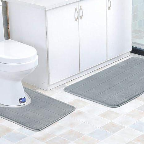 Findnew Contour Bath Rugs U Shaped Bath Mats Soft Memory Foam