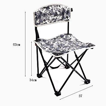 RMJAI Sillas Silla Plegable portátil Taburete de Camping ...