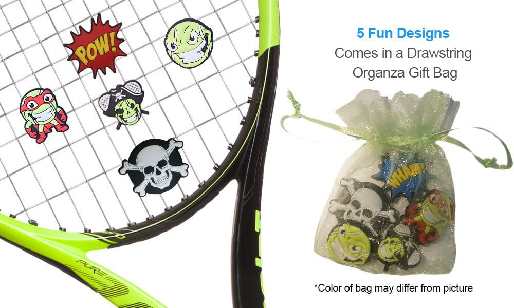 Racket Expressions Comic Book Tennis Dampener 2 & 5 Packs
