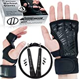 peak gloves - S - Cross Training Gloves for Man & Woman - Sport Workout Gloves With Wrist Support for Gym - Weight Lifting Pull Up Hand Grips + Speed Jump Rope Fitness Workout by Titanium Peak