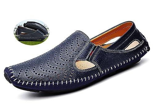 CCZZ Zapatos del Barco para Hombre Cuero Mocasines Comodidad Zapatos de Conducción Loafers Casual Calzado Plano 37-46 EU: Amazon.es: Zapatos y complementos