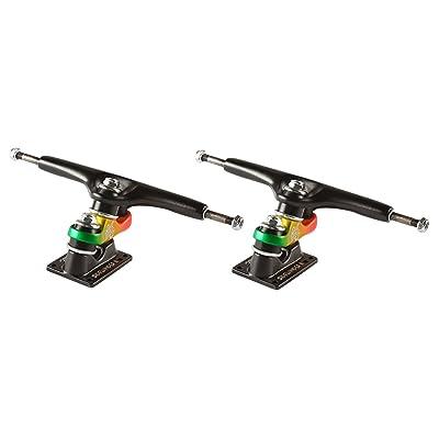 Gullwing Sidewinder II 9.0 Black/Rasta Skateboard Trucks (Set Of 2) by Gullwing