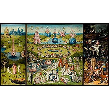 Hieronymus Bosch Garden Of Earthly Delights Triptych Art Print Poster 12x18 Posters