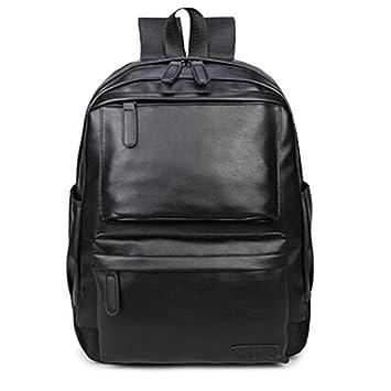 Mochila Vintage Bolso de viaje de cuero Camping Caminata Mochila Bolsa de hombro Bolsa para la escuela LMMVP (30cm*43*15cm, Negro): Amazon.es: Deportes y ...