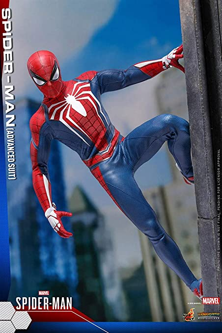 Amazon Com Hot Toys Spider Man Advanced Suit 1 6 Sixth Scale Figure Marvel Video Game Masterpiece Series Action Figure Toys Games