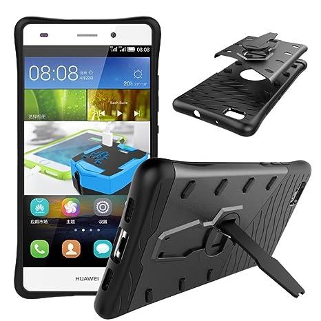 CELLONIC® Tapa Trasera Compatible con Huawei P8 Lite (2016) Plastic Carcasa Resistente Caja Tapa Trasera Slim Case Negro