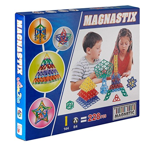 ToySharing 228 Pieces Magnetic Sticks and Balls Building Blocks Toy Set
