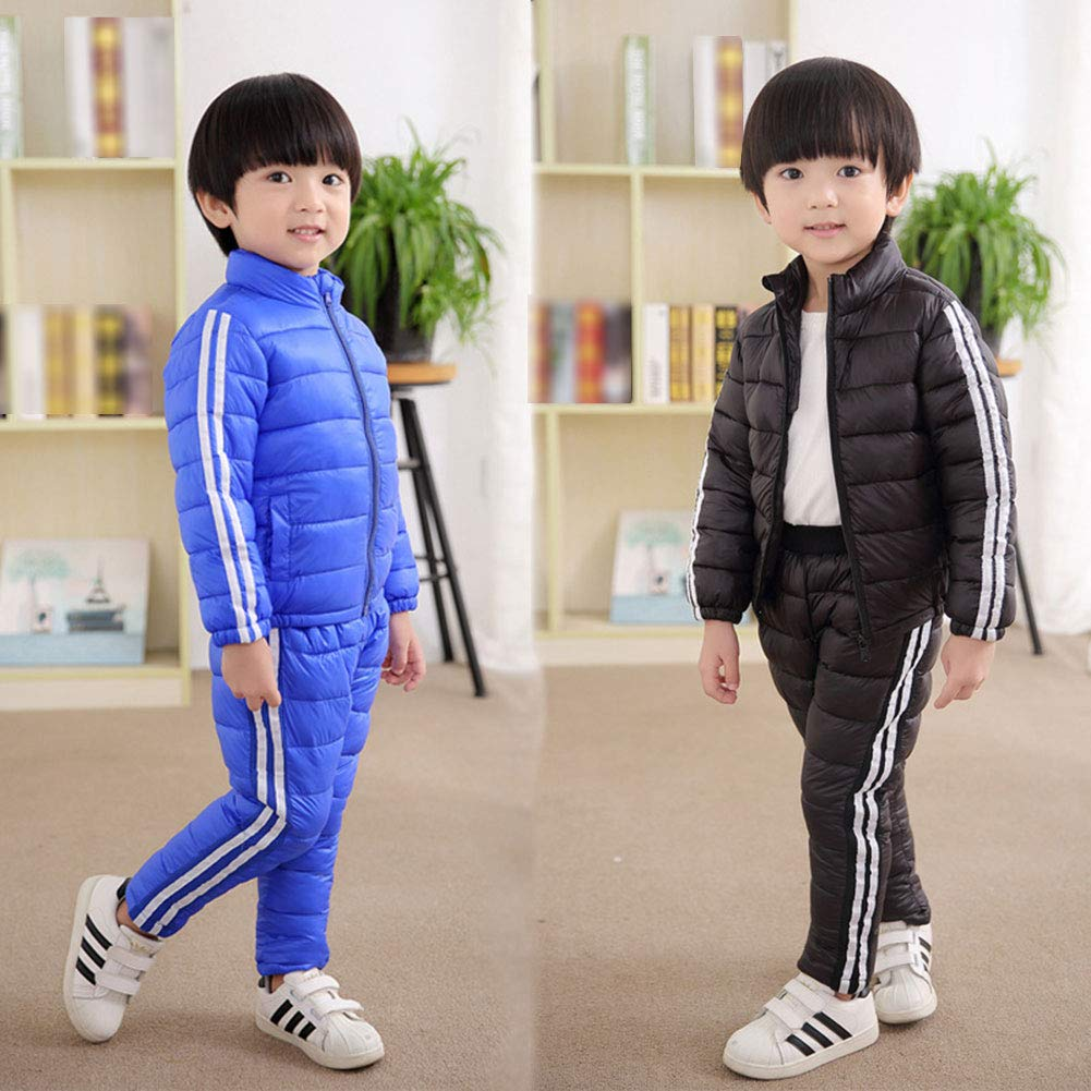 M/&A Boys Girls Lightweight Down Jacket 2Pcs Winter Puffer Coat Pants Set