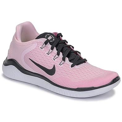 Nike Women's Free RN 2018 Running Shoe Pink FoamBlackPink RiseWhite Size 7 M US