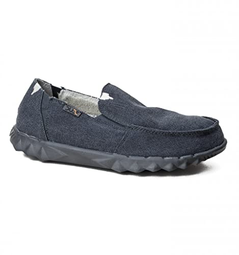 Nero Hey Dude Shoes Uomo FARTY CLASSICO NERO JET SLIP ON