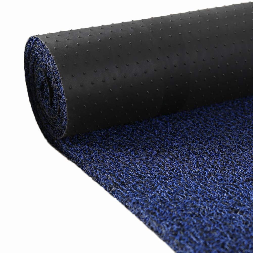 廊下ホールカーペット、PVCカーペット、プラスチックパッドの防塵、防水滑り止めマット CONGMING (色 : 濃紺, サイズ さいず : 1.2m*2m) 1.2m*2m 濃紺 B07MN9YVQS