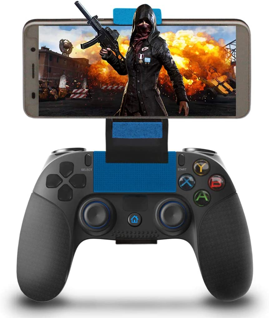 Mando para Android Inalámbrico, Maegoo Mobile Juegos Mando Inalámbrico Bluetooth Gamepad Joystick Controlador con Soporte Retráctil Compatible para iOS(11.3-13.3 Version) Android Teléfono/Tableta