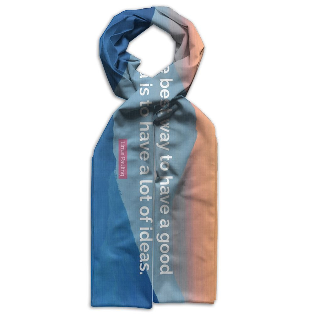 HFIUH5 Linus-Pauling Quote The Best Way-to-have-a-good-idea Printing Scarf Warm Soft Fashion Scarf Shawl For Spring Autumn Winter Kids Boys Girls