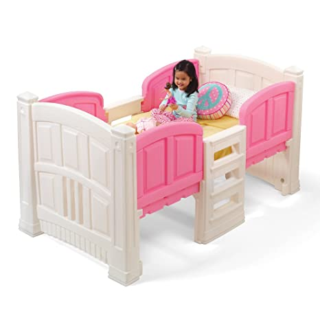 Amazon Com Step2 Girl S Loft And Storage Twin Bed Toys Games