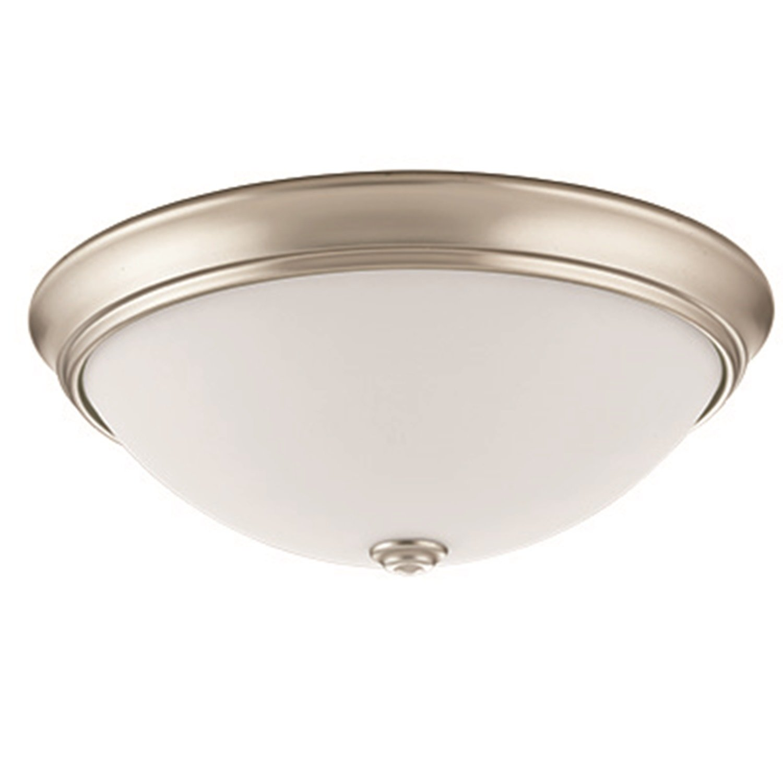 Lithonia Lighting FMDECL 10 14840 BN M4 LED Round Decor Flush Mount, 10-Inch, Brushed Nickel