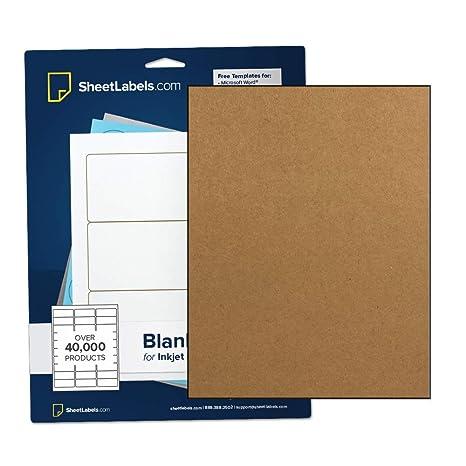 Amazon.com: Papel adhesivo de Kraft marrón, etiquetas de ...