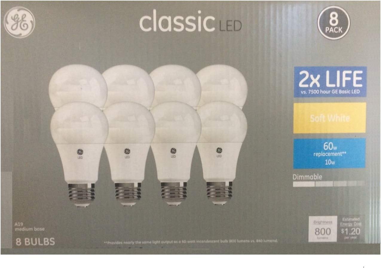 GE Classic Plastic 60-Watt EQ A19 Soft White Dimmable LED Light Bulb (8-Pack)