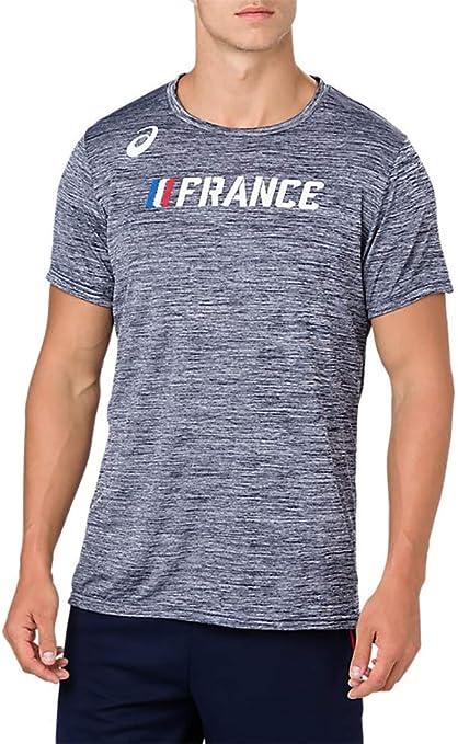 ASICS France Country Logo de Course à Pied à Manches Courtes Top ...