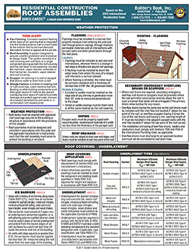 Residential Construction Roof Assemblies Quick-Card based on the 2015 IRC pdf epub