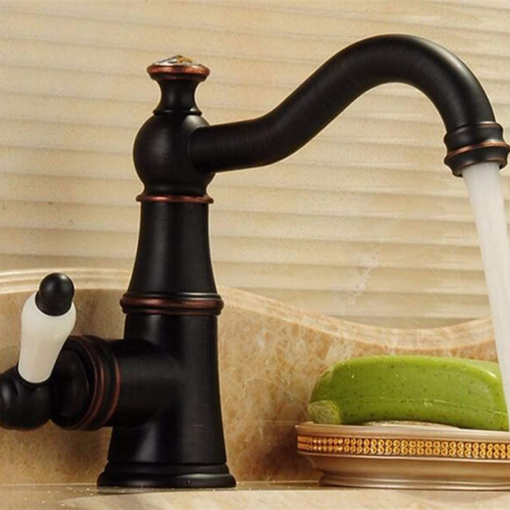 ZXY-NAN Kitchen Basin Mixer Arrivals Antique Basin Faucet Solid Brass with Diamond Bathroom Faucet Single Handle Sink Faucet Water Tap Faucet Water Filters