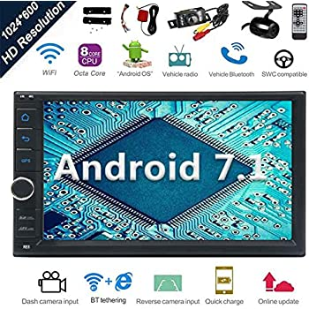 Android 7.1 32GB 2GB Car Stereo Radio with Octa Core Bluetooth GPS Navigation Support Fastboot WiFi MirrorLink USB SD Backup Front Camera 7¡± 1024600 ...