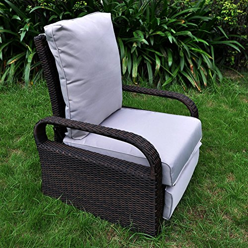 Outdoor Resin Wicker Patio Recliner Chair With Cushions Art To Real Patio Furniture Auto