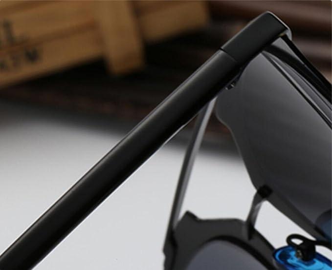 Z&YQ Occhiali da sole personalizzati occhiali di modo anti-UV viso rotondo colore brillante vetri riflettenti , gold frame gray
