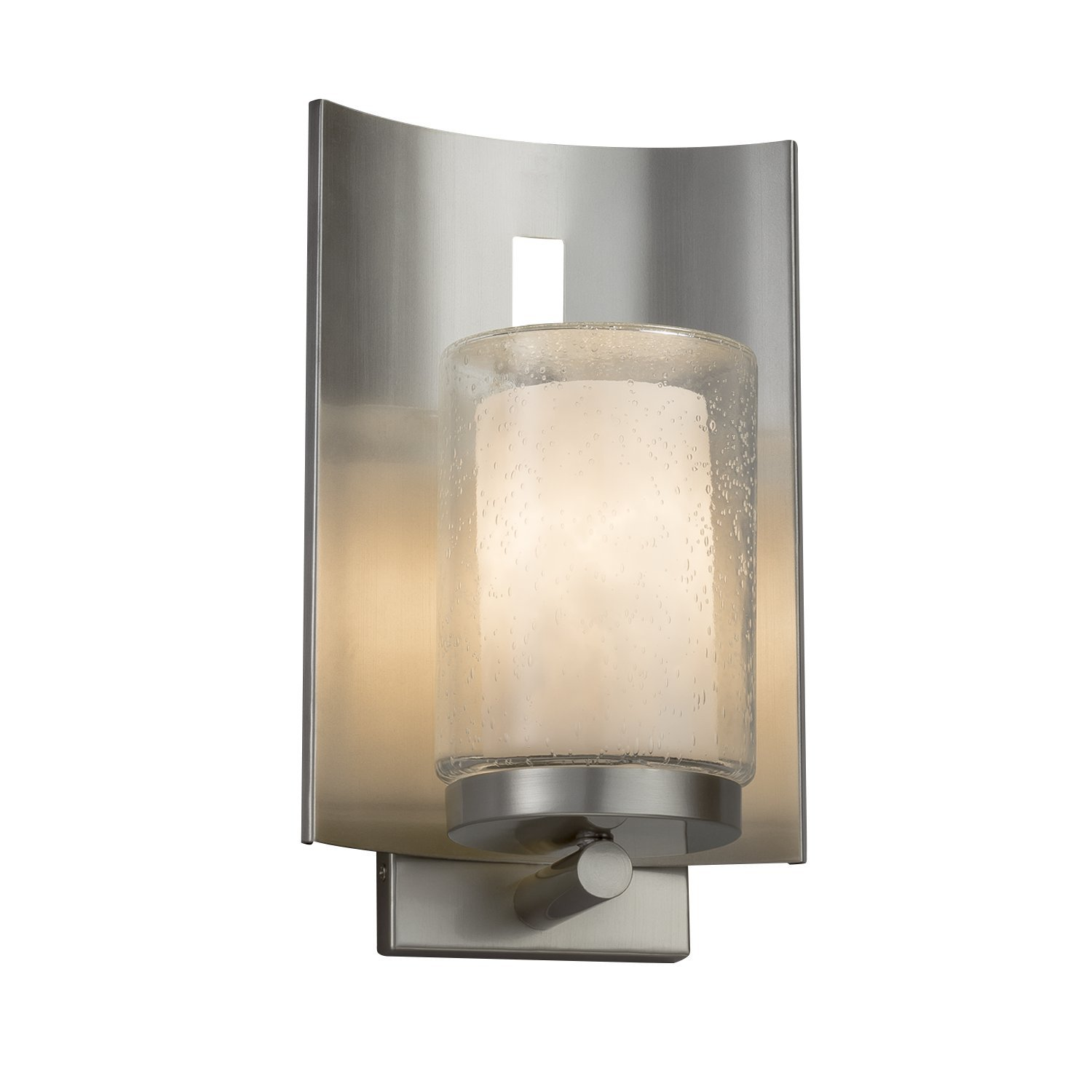 Clouds embark 1 light outdoor wall sconce cylinder with flat rim