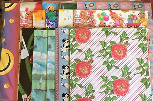 Flat Gift Wrapping Paper (Flat Wrap Gift Wrapping Paper Assorted craft projects, scrapbooking, decoupage,)