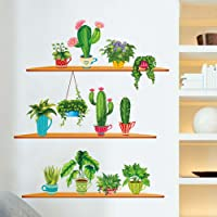 WallDecals Plant Wall Stickers Cactus Wallpaper Living Room Bedroom Corridor Wall Stickers Wallpaper Wall Paintings