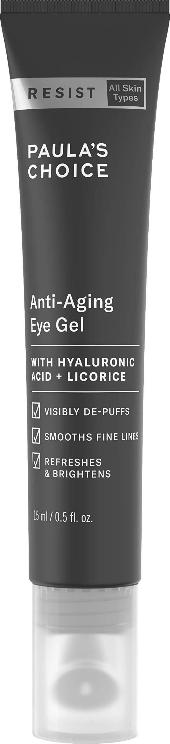 Paula's Choice RESIST Anti-Aging Eye Gel, Hyaluronic Acid, Puffy Eyes, Wrinkles, Fine Lines & Crow's Feet, 0.5 Ounce by Paula's Choice