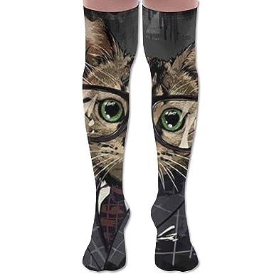 Cat Man Woman Knee High Compression Socks Stylish High Travelers Laides Long Socks