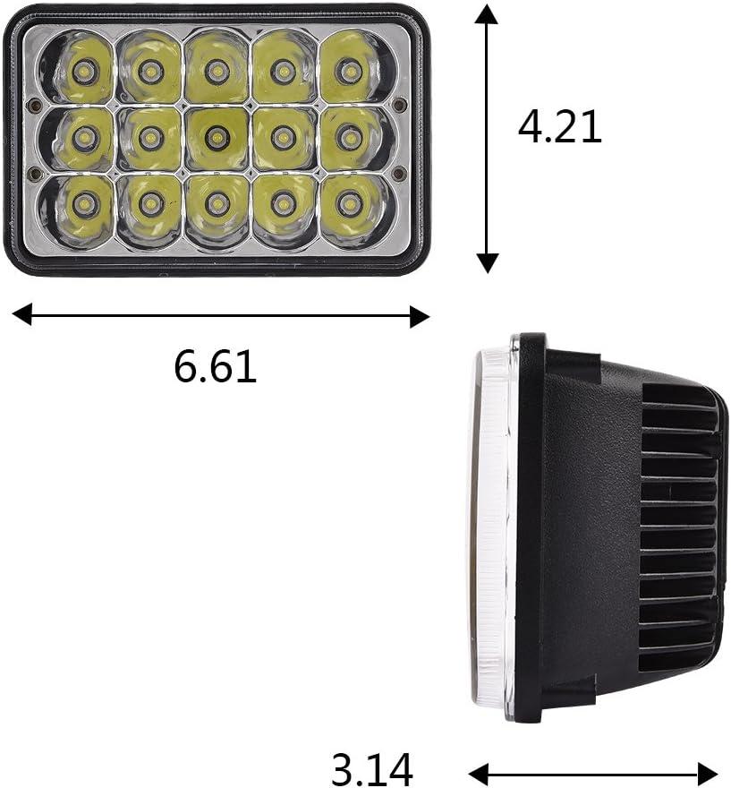 Catinbow 7 Inch Round Headlight 4x6 Headlight 4PCS