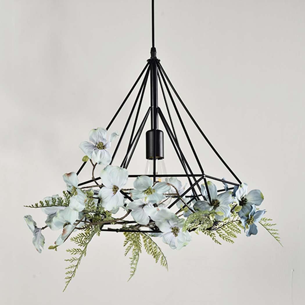 GAOLIQIN Iron Pendant Lamp, Creative Personality Simulation Plant Art Pendant Light,Theme Concert Bar Window Restaurant Decoration Chandelier (Size : 40CM) by GAOLIQIN (Image #2)