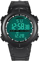 Becoler Men's LED Digital Date Military Sport Rubber Quartz Watch