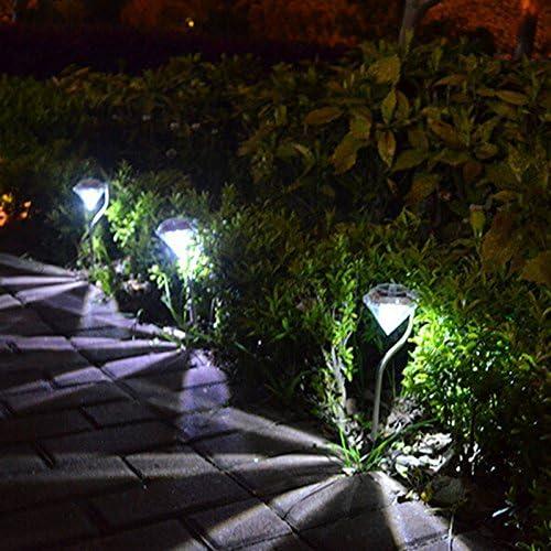 gloednapple impermeable energía solar cambio de color LED Jardín paisaje camino Camino luces césped lámpara: Amazon.es: Jardín