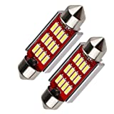 車内ランプ T10 × 36mm 12V車用 10連LED キャンセラー内蔵 ホワイト ルームランプ マップランプ カーテシランプ 2個 (T10 × 36mm)