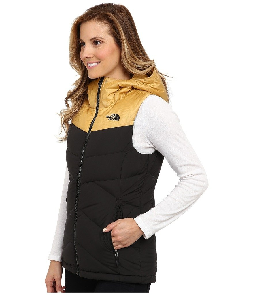 6f023b75c The North Face Women's Kailash Hooded Vest TNF Black/Curry Gold X ...