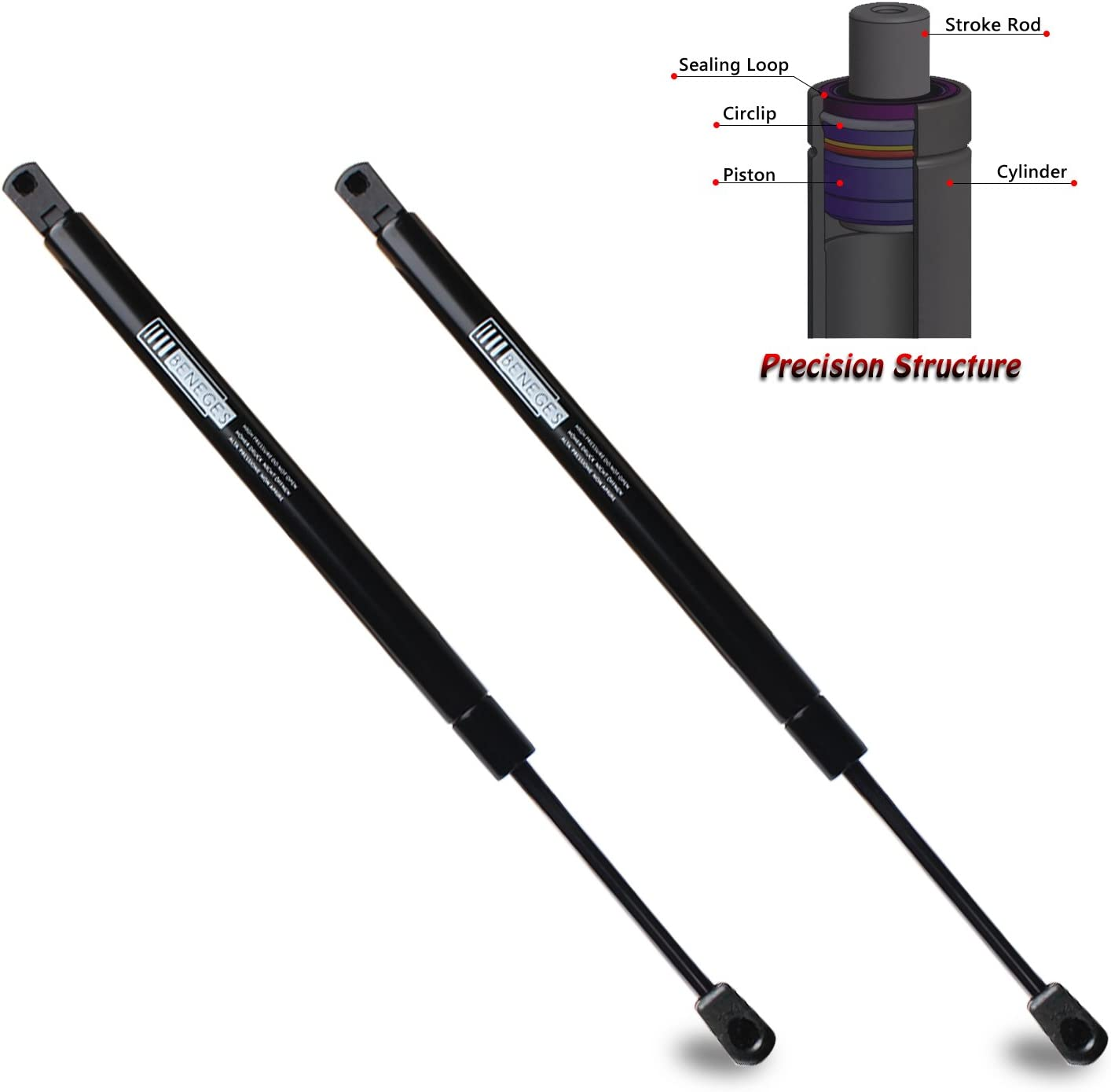 BOXI Qty Front Hood Lift Supports Struts Shocks For Chevrolet Corvette 2005-2012 Coupe Convertible Hood SG430094 2
