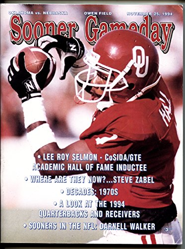 - Oklahoma vs. Nebraska 1994 NCAA Football Program National Champs