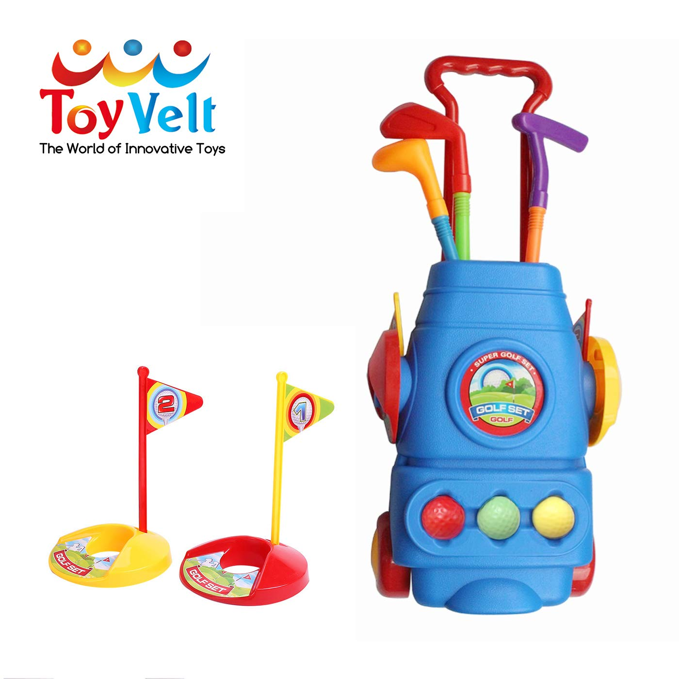 Amazon.com: ToyVelt Kids Golf Club Set - Carro de golf con ...