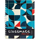 Classmate Premium 6 Subject Spiral Notebook - 203mm x 267mm, Soft Cover, 300 Pages, Unruled