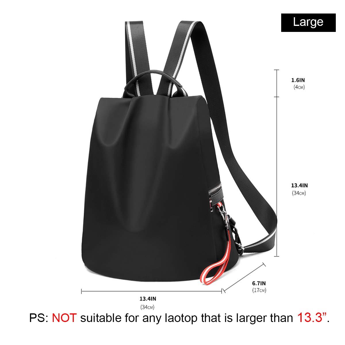 cca3c737441 Amazon.com  Backpack Purse for Women Waterproof Nylon Anti-theft Fashion  Lightweight School Travel Shoulder Bag(Black)  Shoes