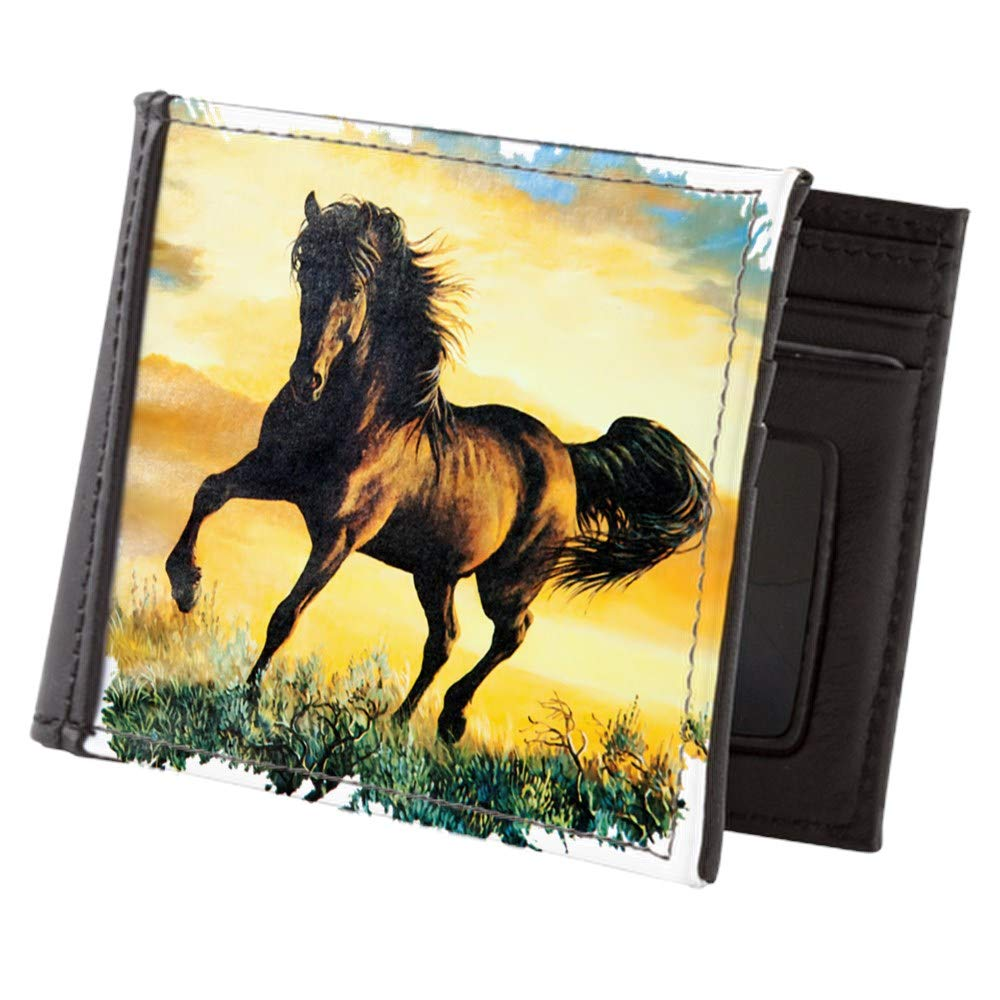 Royal Lion Mens Wallet Billfold Horse at Sunset