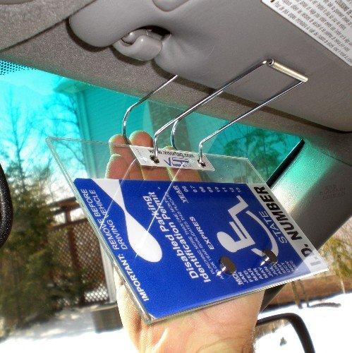 Handicap Placard Cover And Holder Horizontal Visortag