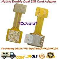 TECNOIOT Hybrid Dual SIM Card Adapter Micro SD Nano SIM Extension Adapter for Android |Double SIM Nano à Nano SIM Adaptateur Adaptateur Carte SIM pour Samsung Huawei Xiaomi HTC